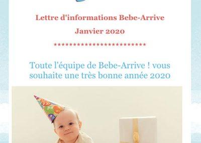 Capture d'écran newsletter Bebe Arrive !